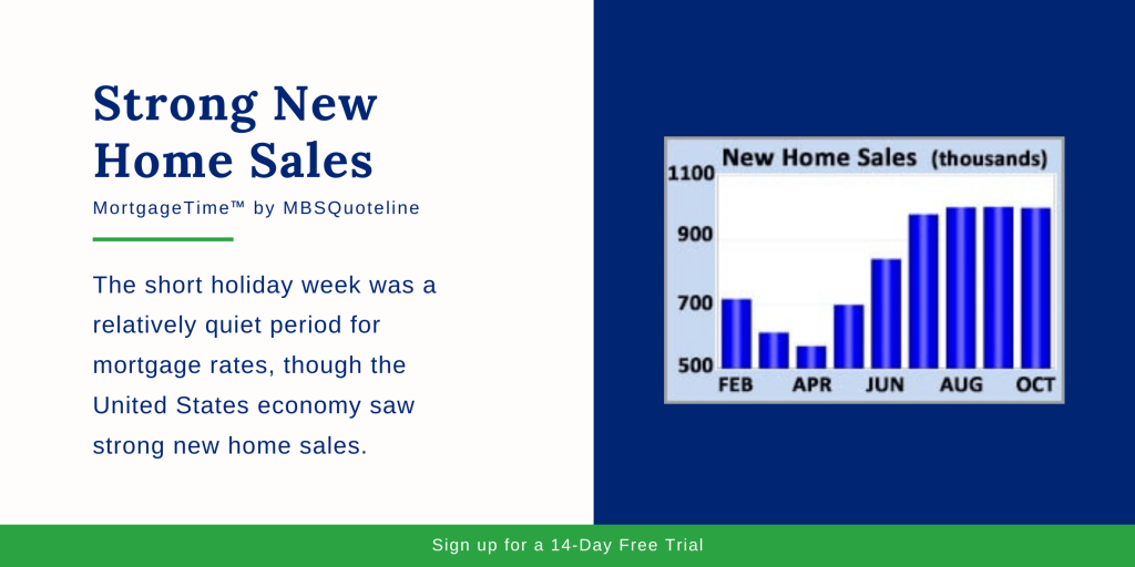 Strong New Home Sales MBSQuoteline