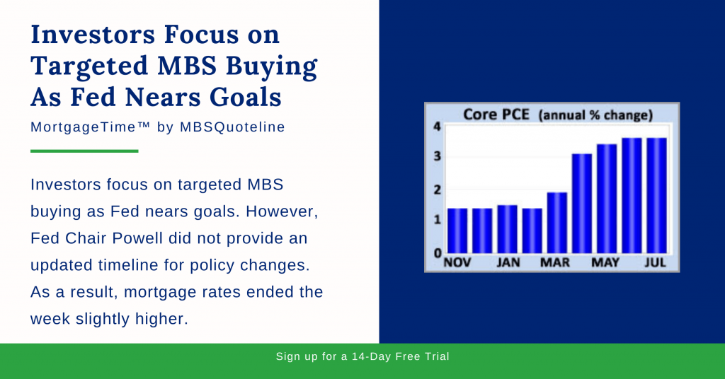 Investors Focus on Targeted MBS Buying As Fed Nears Goals mortgagetime mbsquoteline chart